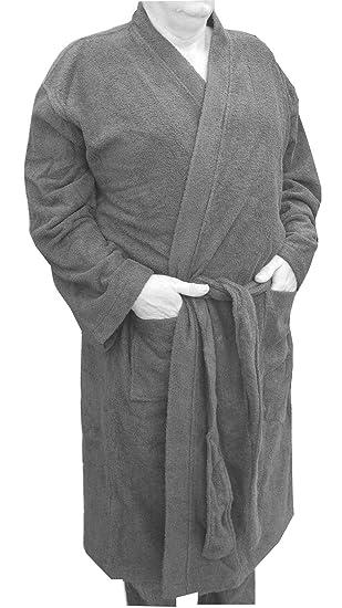 Mens Kingsize Big Size 100% Cotton Towelling Dressing Gown Bath Robe ...