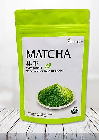 Amazon.com : Slim-er Matcha Green Tea Powder - USDA Certified ...