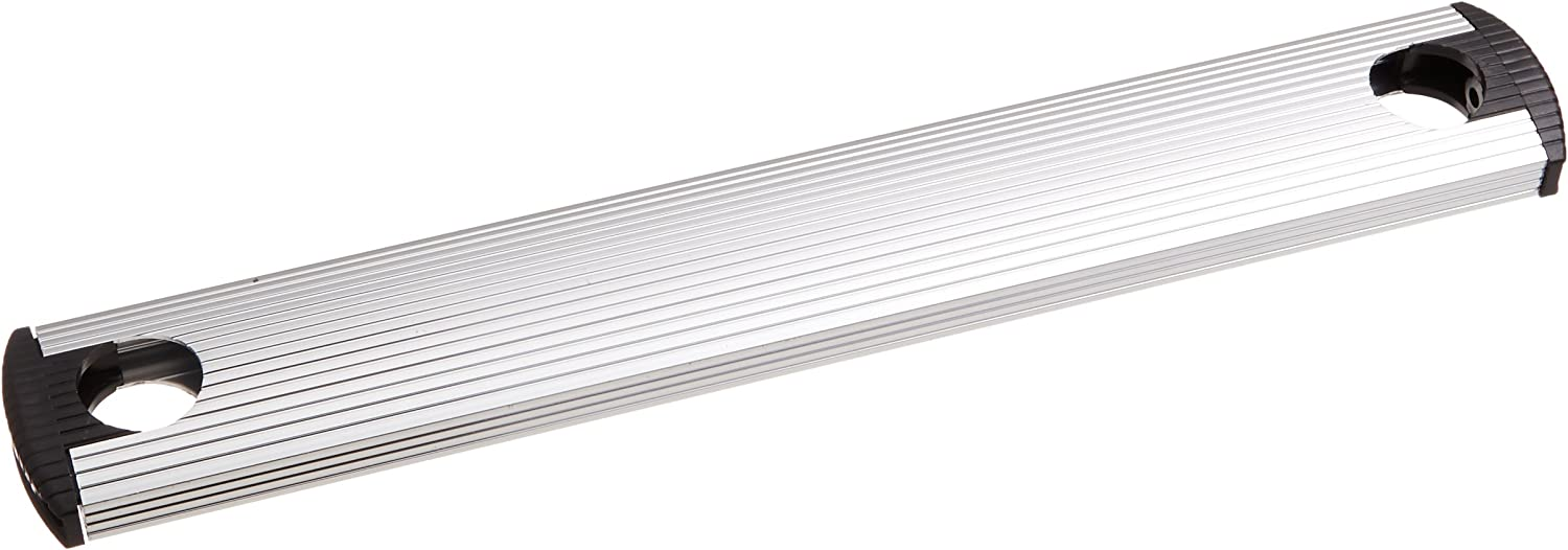 Stromberg Carlson 8540-NTB Universal Exterior RV Ladder Drilled-Out Aluminum Tread, End Caps and Screws, Silver