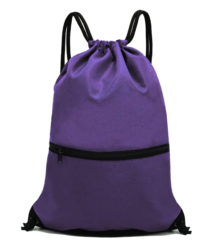 Amazon.com  HOLYLUCK Men   Women Sport Gym Sack Drawstring Backpack Bag -  Black  Sports   Outdoors ffb24b6216bad