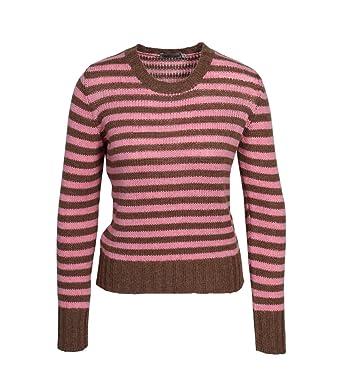 online store 12da8 3a3d8 GRETA & LUIS Damen Pullover in Rosa-Braun gestreift 32 Rose ...