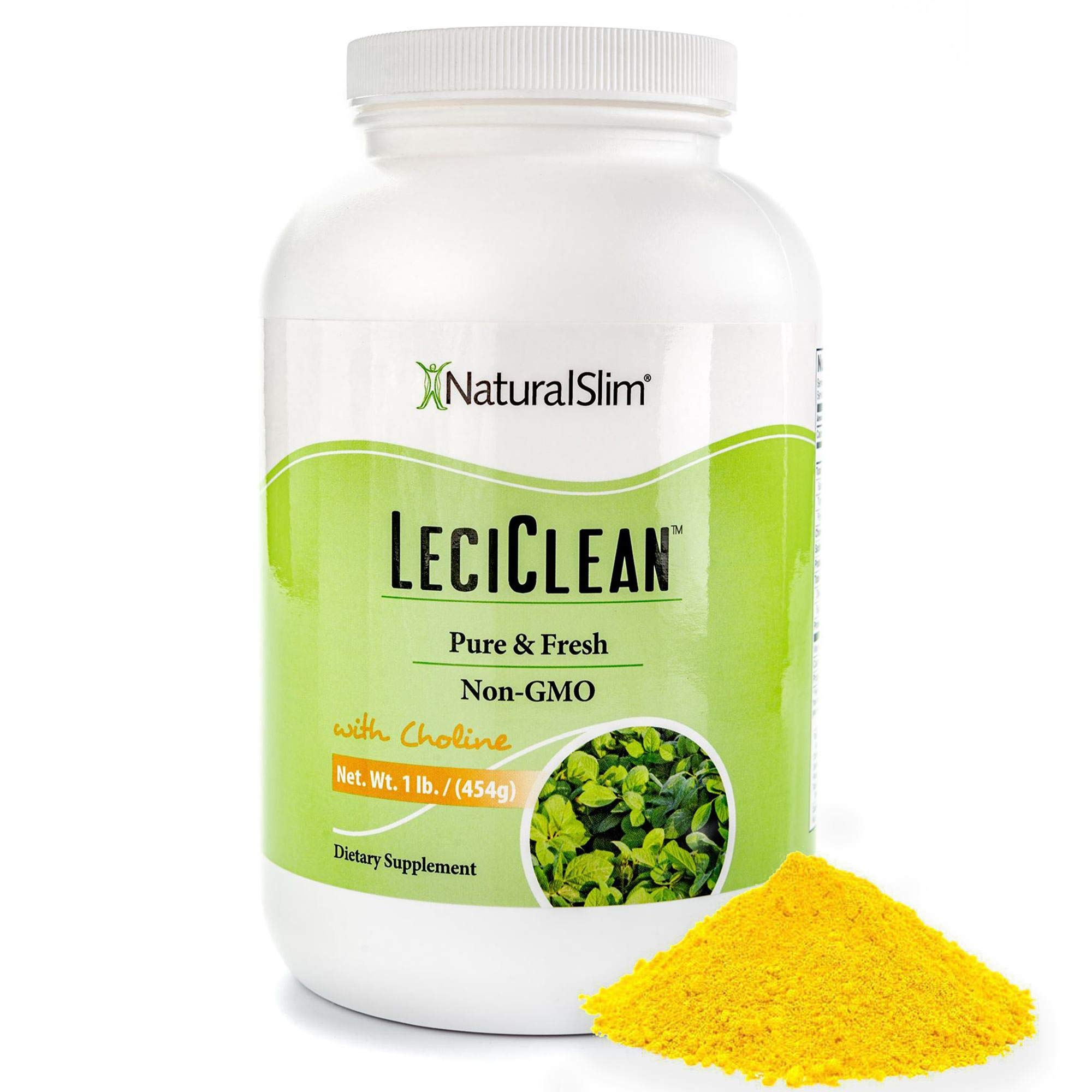NaturalSlim Non GMO Lecithin Granules with Choline - 100% Pure Powder Dieatary Supplements - Easily Dissolves in Protein Shake for Metabolismo Support