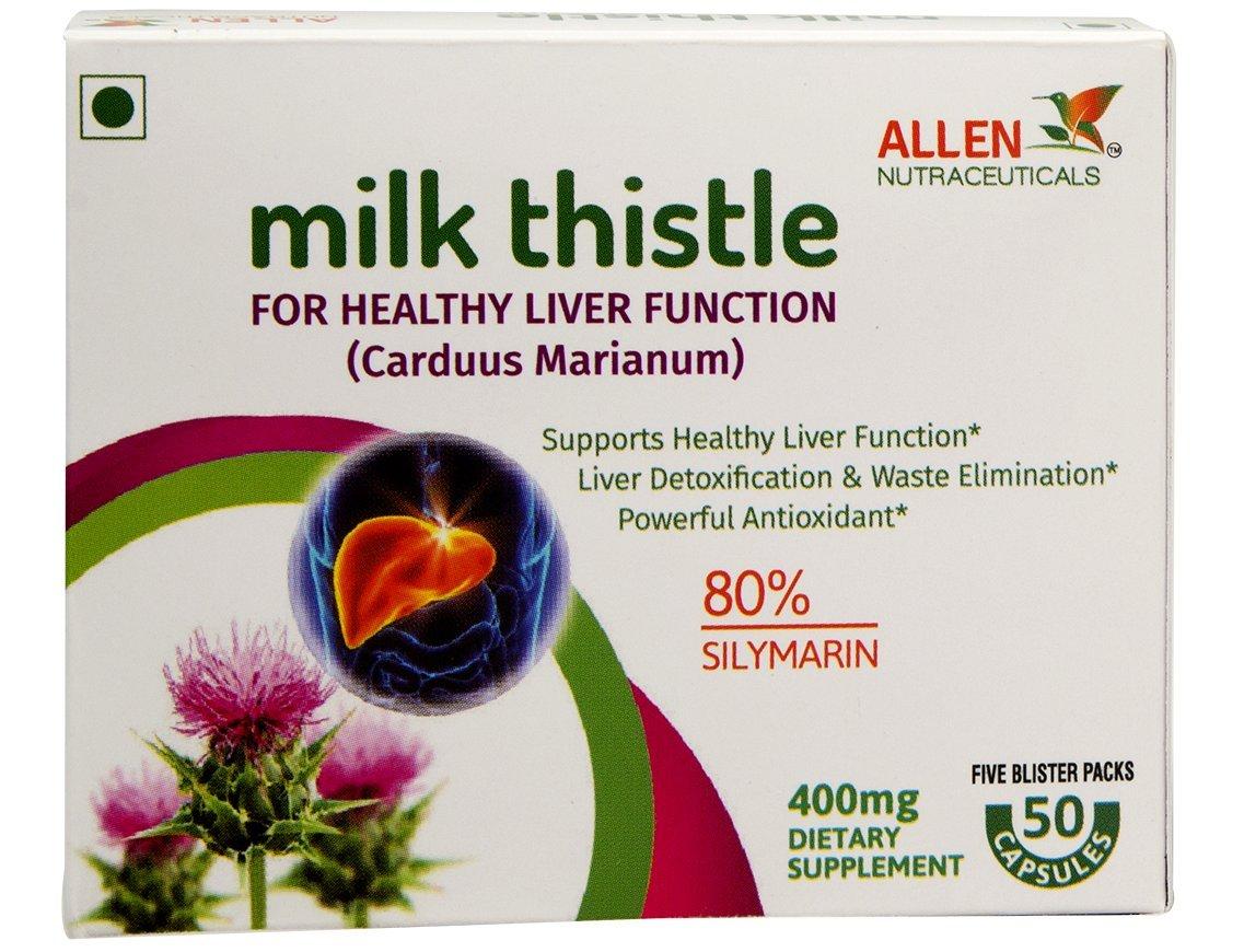 Buy Milk Thistle 50 Veg Capsules In Blister Packing 400mg