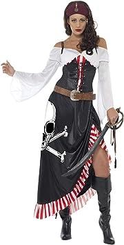 Generique - Disfraz Miss Sexy Calavera Pirata Mujer L: Amazon.es ...