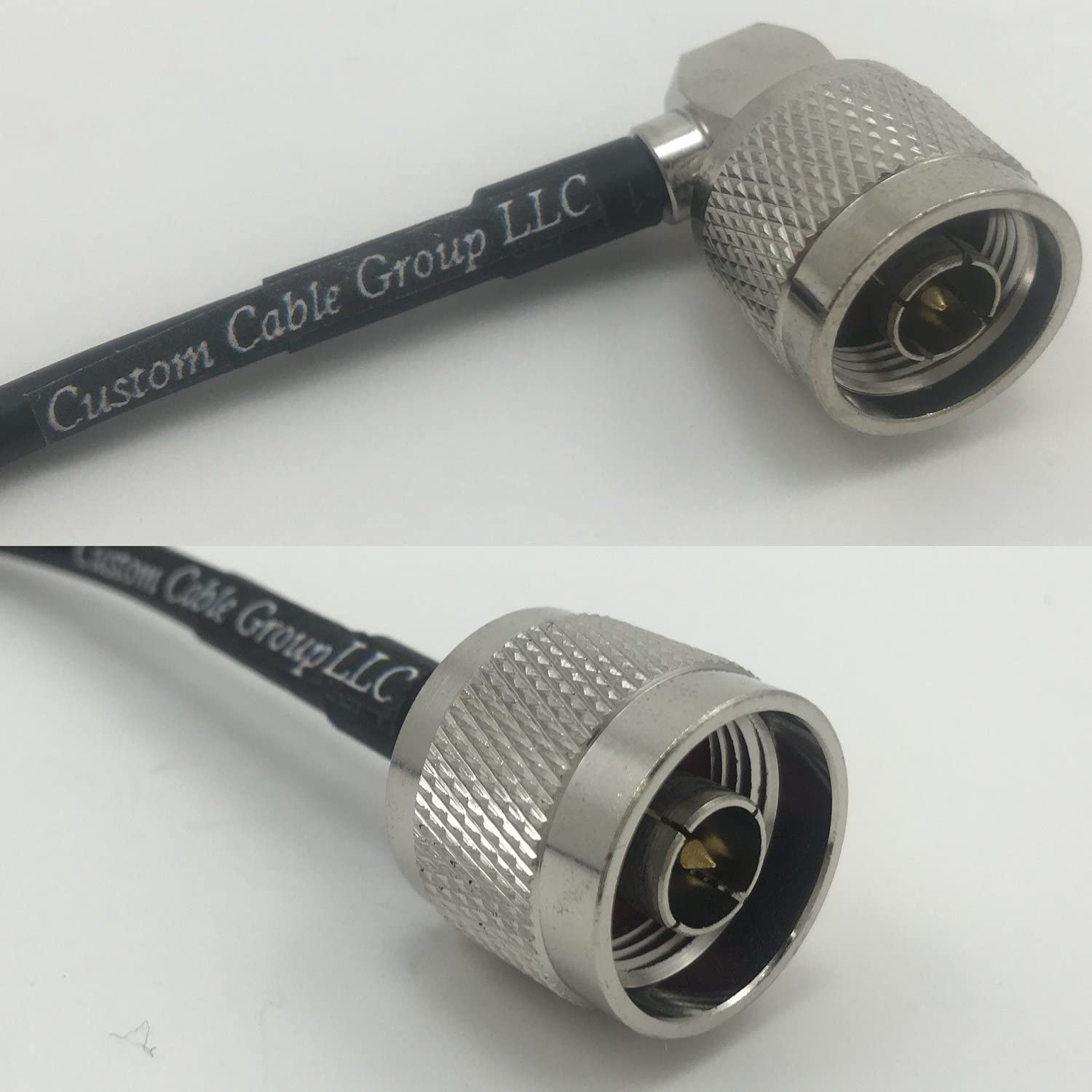 1 Foot RG400 Low Loss N Male Angle to N Male Pigtail Jumper RF coaxial Cable 50ohm Quick USA Shipping