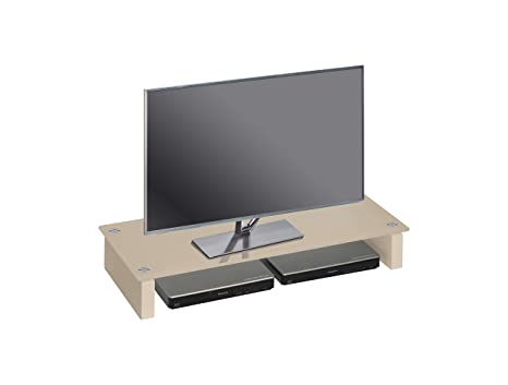 Avanti Trendstore - Carlo - Mueble TV de cristal color arena ...