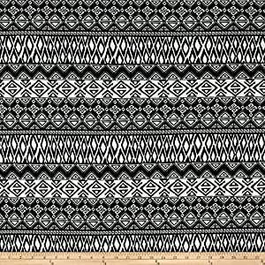 Classic Chic Geometric ITY Knit Black/White Fabric By The Yard