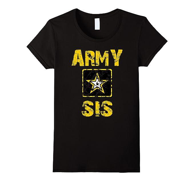 Amazon.com  Womens U.S. ARMY Tshirt Proud Sister ARMY T-SHIRT  Clothing 859580781a