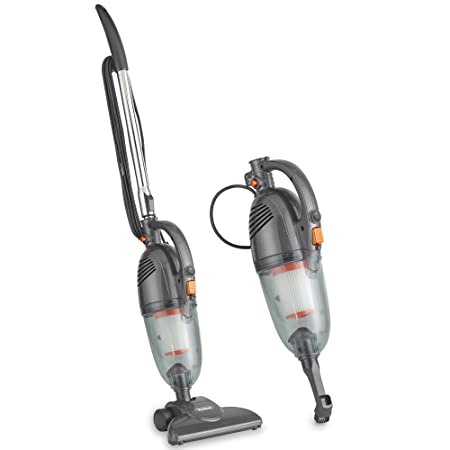 VonHaus 2 in 1 Stick Handheld Vacuum Cleaner – 600W Corded Upright Vac with Lightweight Design, HEPA Filtration, Extendable Handle, Crevice Tool and Brush Accessories – Ideal for Hardwood Floors