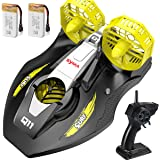 Remote Control Boat for Kids, SYMA Q11 Hovercraft RC Boat for Land, Pools and Lakes with 2.4GHz Speedboat, Double Power…