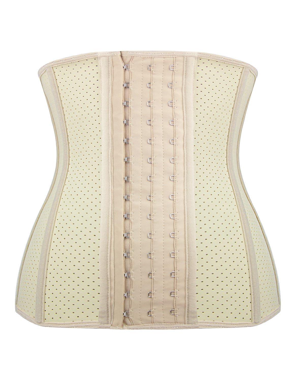 b60751db54151 Burvogue Women s Latex Waist Trainer Corset Body Shapewear 21444 ...