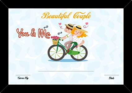 100yellow Gift Certificate Unique Greeting Cards Best Couple