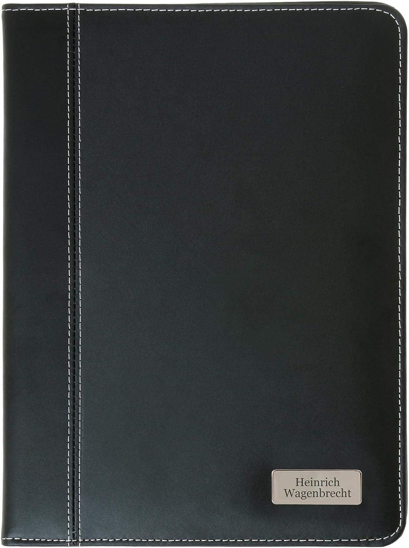Schreibmappe Auckland A5 aus Bonded Leather mit pers/önlicher individueller Gravur Namen