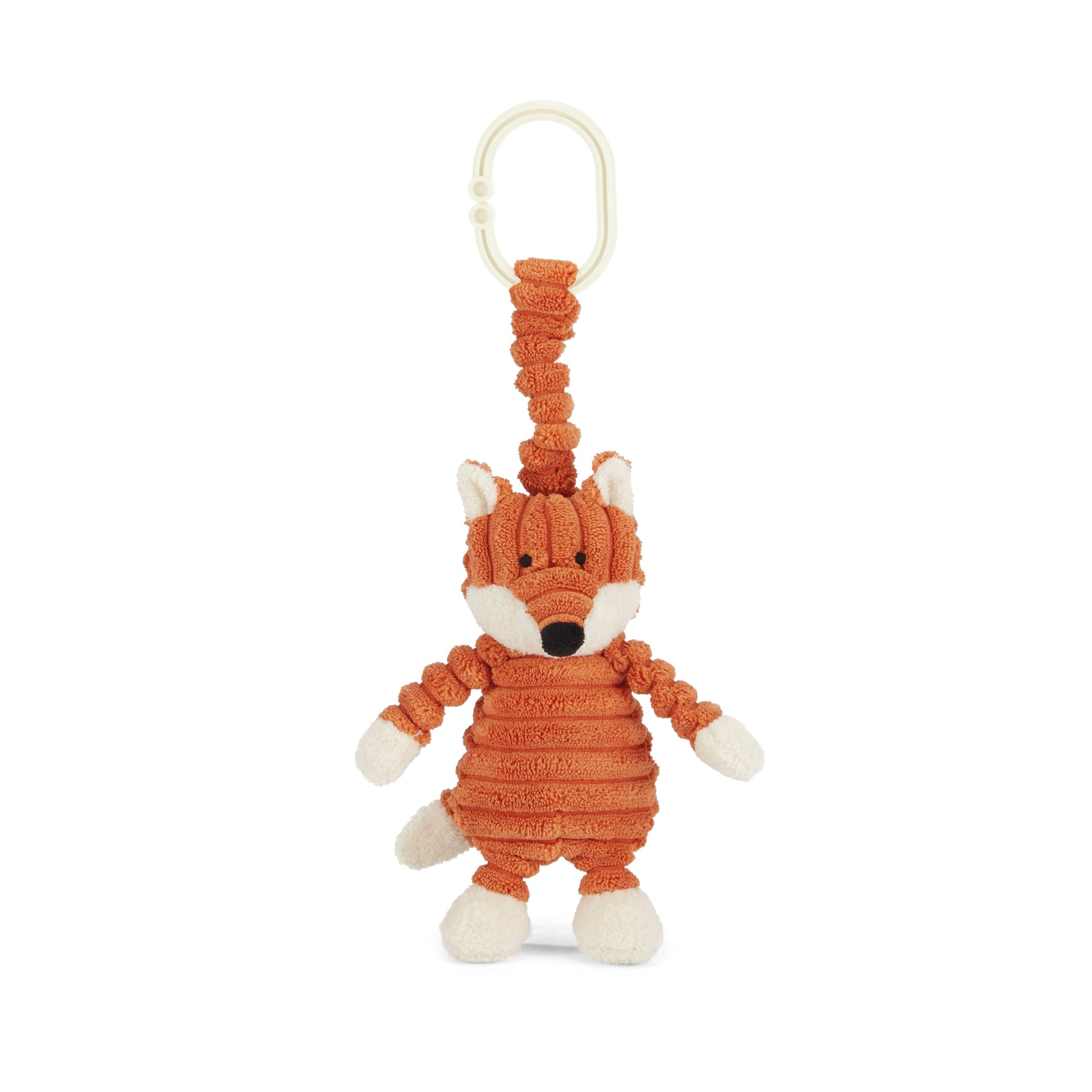 Jellycat Cordy Roy Baby Fox Jitter Stroller Toy, 7 inches