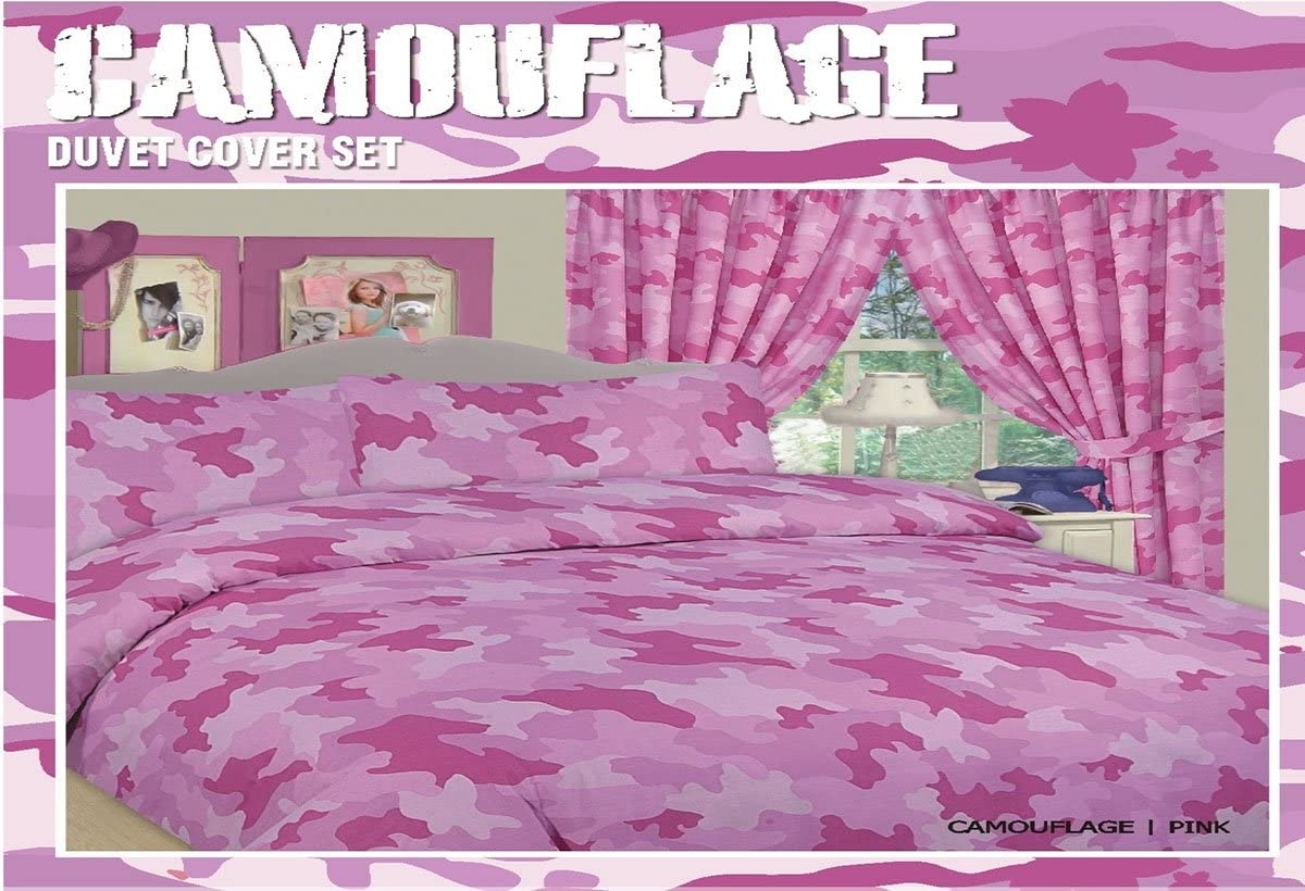 pink camo bed in a bag