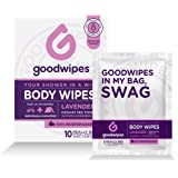 GoodWipes - Deodorizing Body Biodegradable Wipes - For Gals with Vitamin E and Aloe (10 Count)