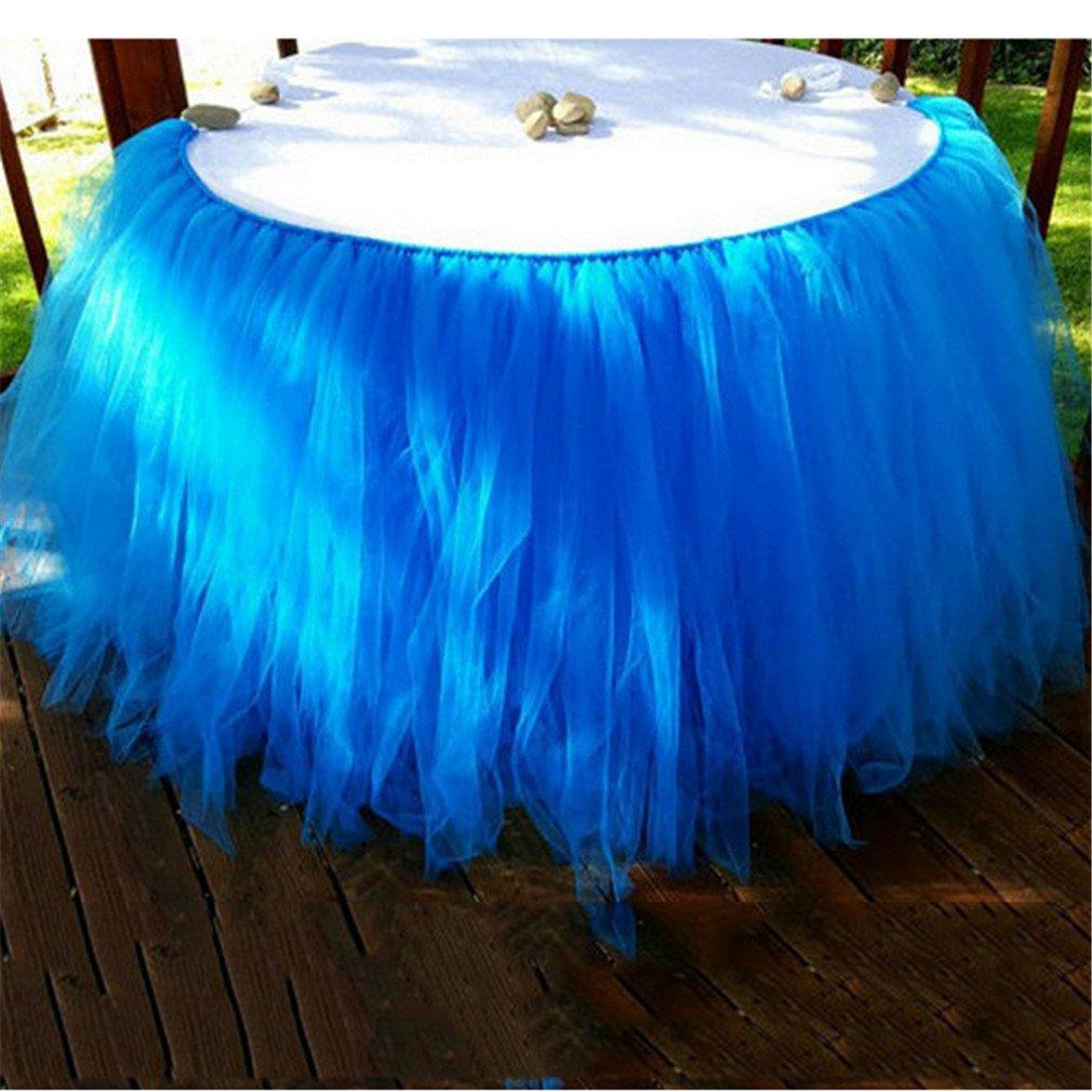 Nylon Taille unique rose LnLyin Fluffy Tutu Jupe de table en tulle Vaisselle pour mariage de f/ête danniversaire D/écoration de f/ête