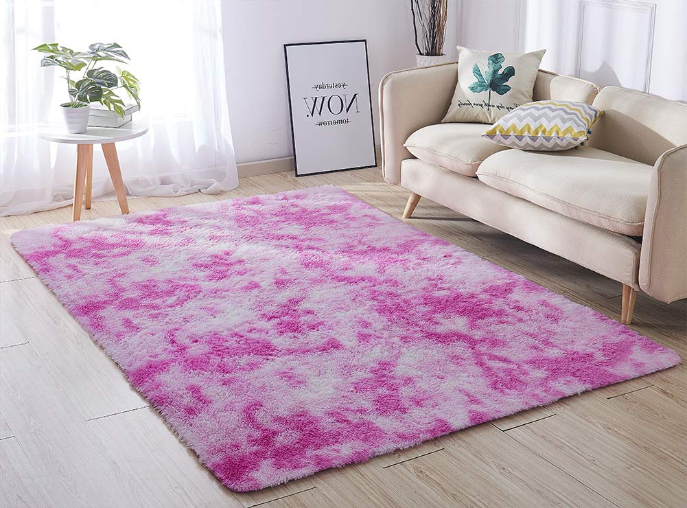 Soft Solid Anti-skid Carpet Living//Dining Bedroom Shaggy Area Rugs Mat 60*40cm
