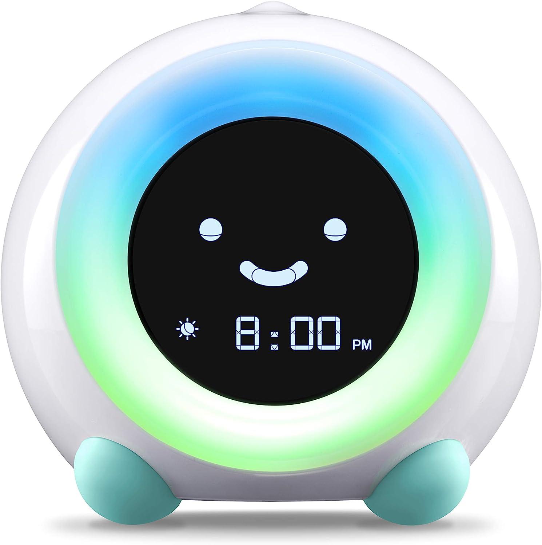 LittleHippo Mella prêt à relever Formateur pour Enfants, réveil, Nuit Light Machine Sommeil Sons (Arctic Blue)