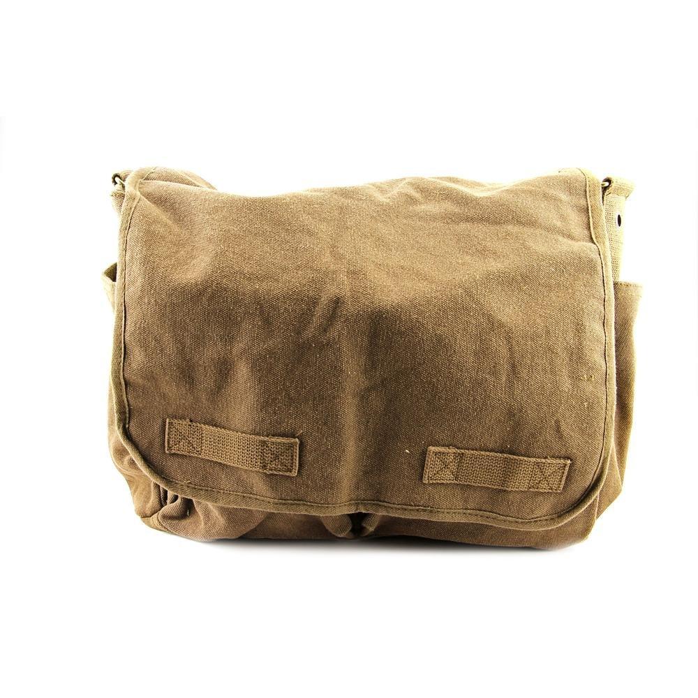Rothco Hw Canvas Classic Messenger Bag, Black RSR Group Inc 613902911819