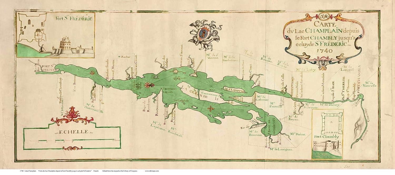 Amazon.com: Lake Champlain Fort St Frederic 1740 French ...