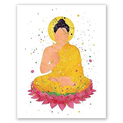 Amazon.com: PGbureau Buddha Poster - Meditating Wall Art ...