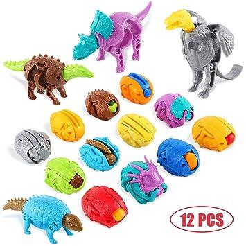 12 Piezas de Dinosaurios Juguetes Dinosaurio Huevos de ...