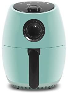 Maxi-Matic EAF-8061BL Personal Compact Space Saving Electric Hot Air Fryer, Oil-Less Healthy Cooker Timer & Temperature Controls, PFOA/PTFE Free, 1000-Watts with Recipes, 2.1 Quart, Blue