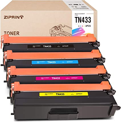 4PK TN433 TN431 Toner Cartridge For Brother HL-L8260CDW HL-L8360CDW MFC-L8610CDW
