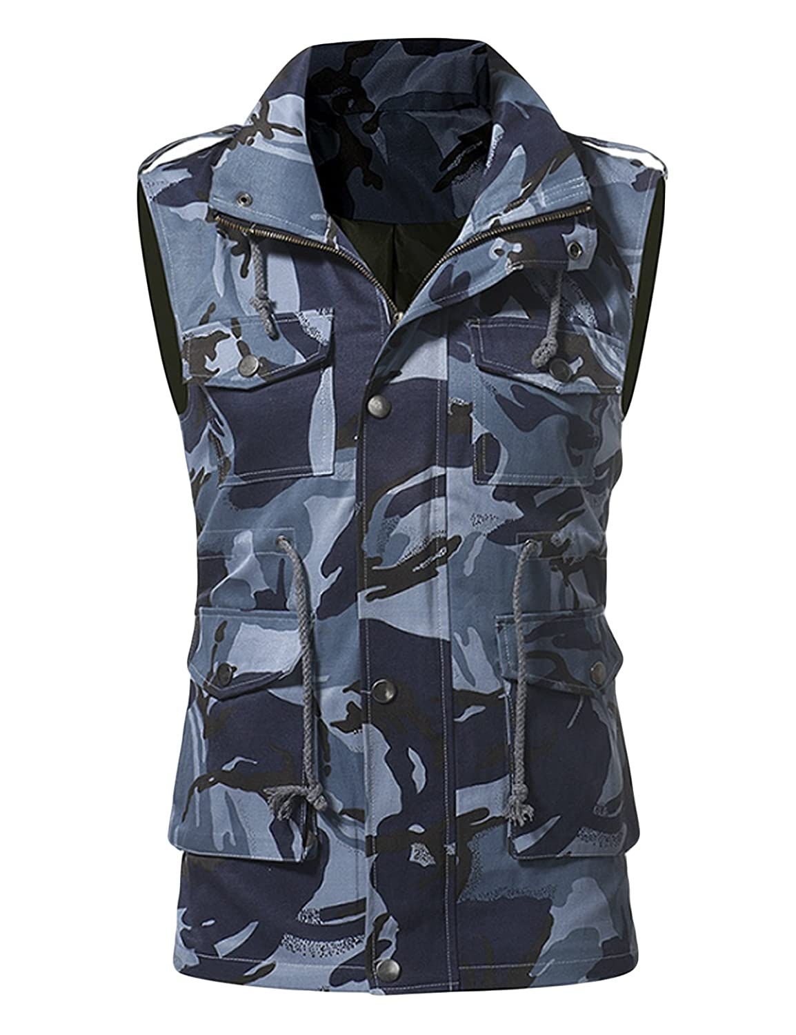 Jueshanzj Mens Camouflage Vest Multi Pocket Outdoor Climbing