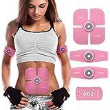 Elettrostimolatore Muscolare,Charminar Abs Trainer EMS Addominali Attrezzi con linea di USB , Allenamento della vita della palestra per body fitness per Donna