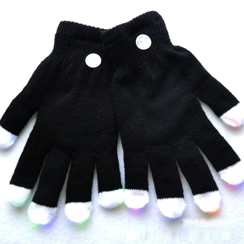 Foxnovo Neuheit-7-Modus-LED-Handschuhe Rave Licht Finger ...
