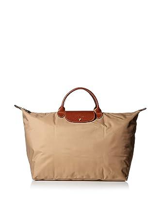 """e4d222c902e5 Longchamp Le Pliage Large Travel Bag, Beige, 17.75"""" x 13.75"""" ..."""