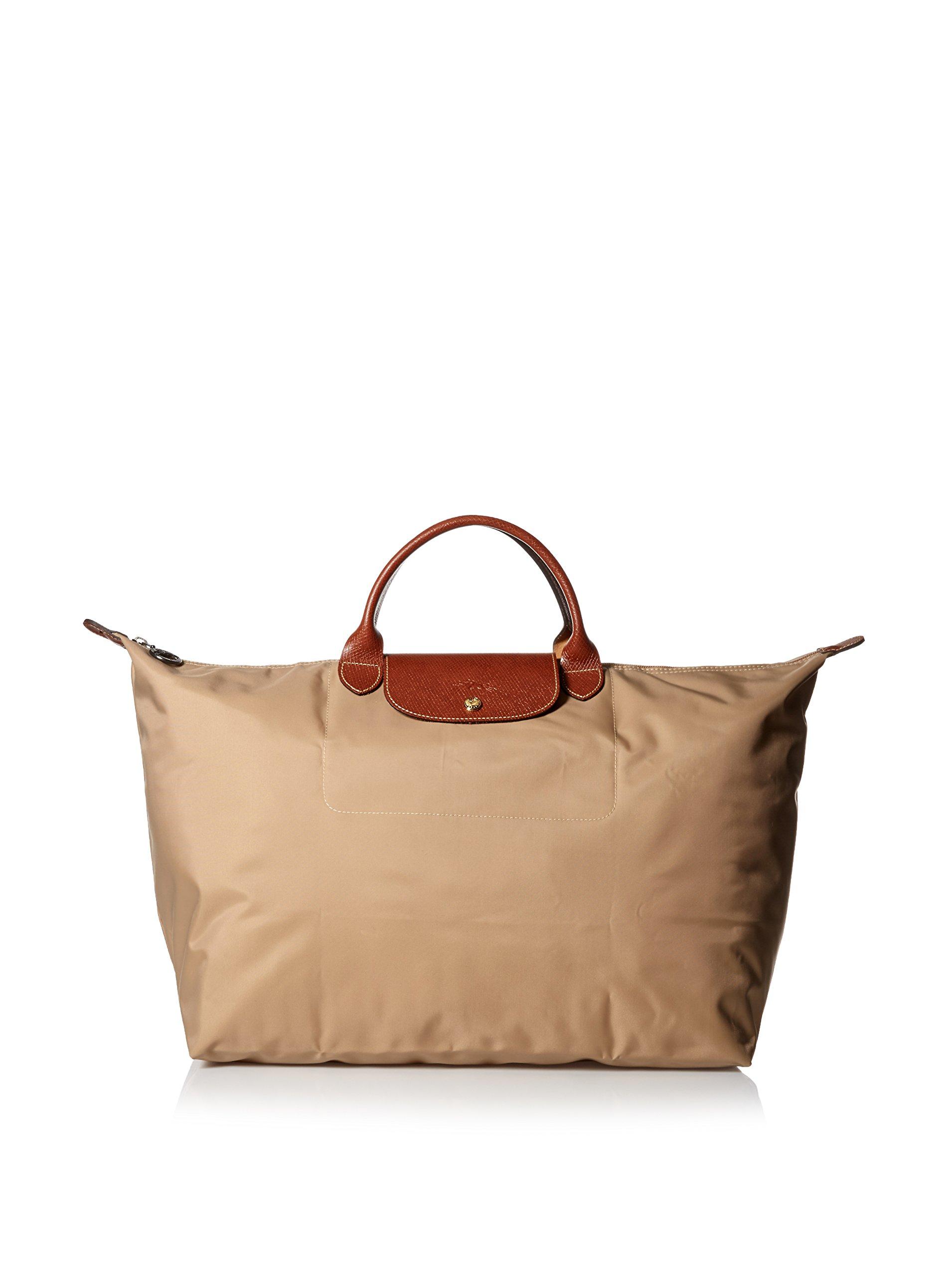 Longchamp Le Pliage Large Travel Bag, Beige, 17.75'' x 13.75'' x 9''