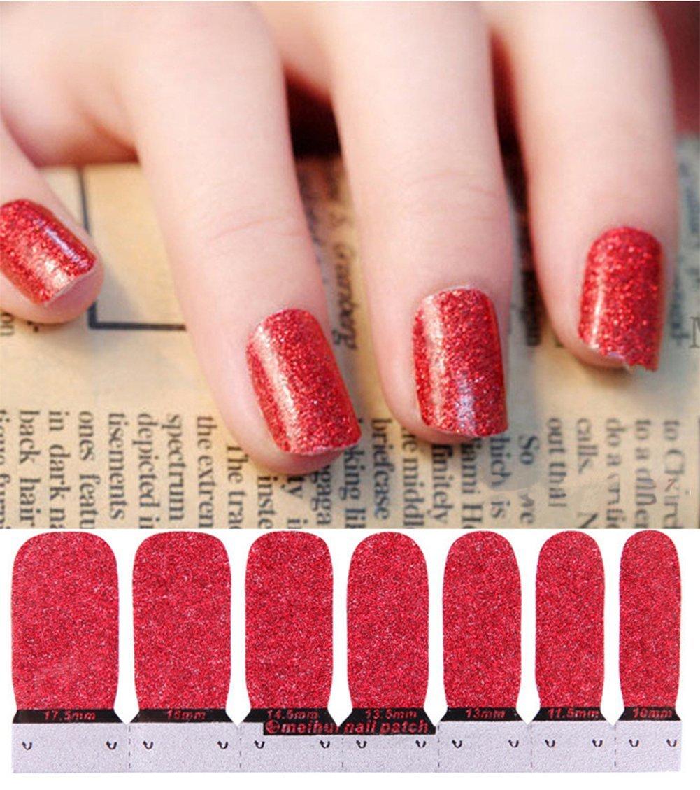 Scrox Autocollants à Ongles Maquillage beauté Nail Art Design Vernis à Ongles Poli Manucure Professionnelle (Argent)
