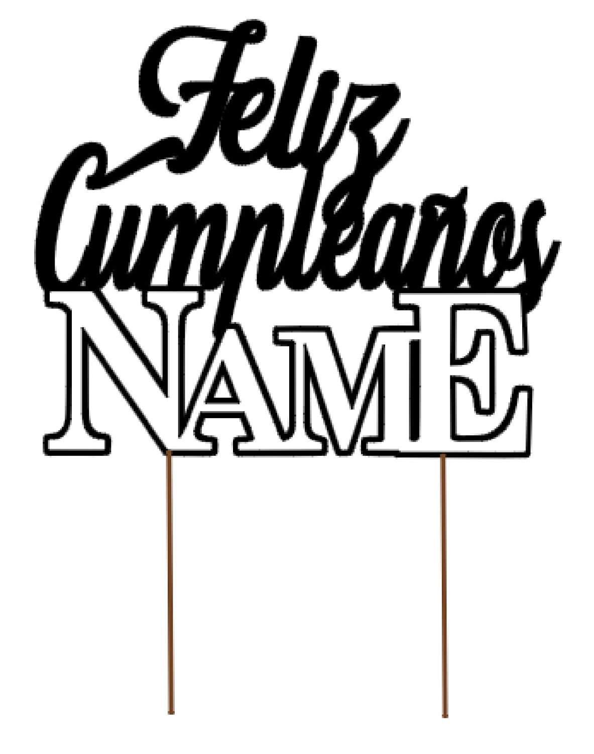 All About Details Personalized Foreign Language HAPPY BIRTHDAY (NAME) Cake Topper...