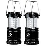 Amazon Price History for:Etekcity 2 Pack Portable Outdoor LED Camping Lantern with 6 AA Batteries (Black, Collapsible)