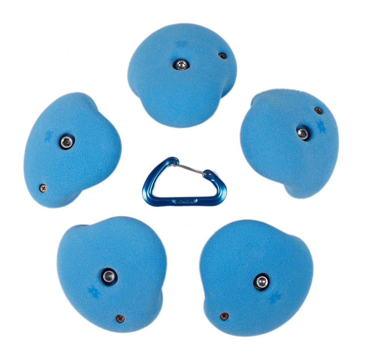 5 XL Double Incut Roof Jugs Set #3 l Climbing Holds l Blue