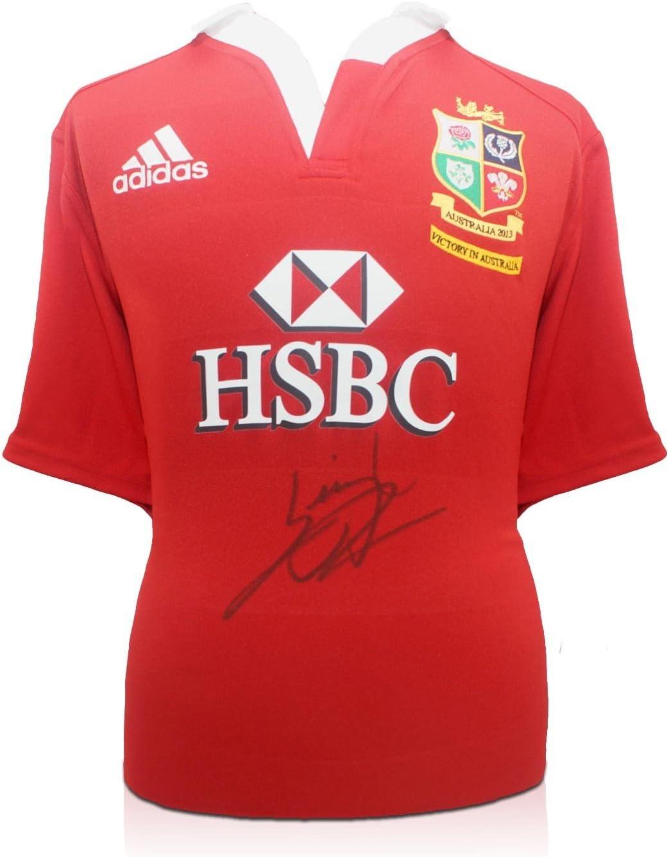 Exclusive Memorabilia - Camiseta de rugby de los British Lions firmada por Leigh Halfpenny, color rojo: Amazon.es: Deportes y aire libre