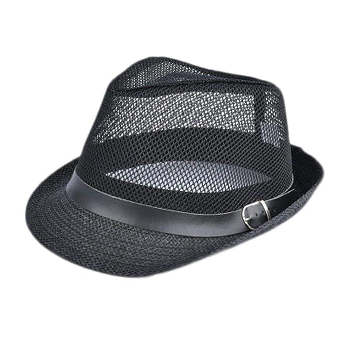 Amazon.com  ExpertS Hats Summer Straw Bucket Hat for Male Jazz Visor Cap  for Gentleman Dad Hat Plus Size Mesh Flat Homburg Beach H  Clothing cb3c778b857