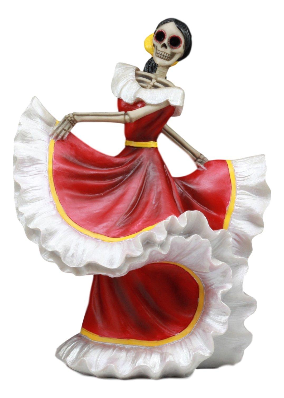 Ebros Dia De Los Muertos Danza De Dama Sugar Skull Lady Dancer Statue 10''Tall Day Of The Dead Vivas Calacas Figurine