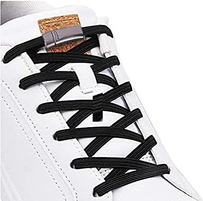 1 pair Lazy No Tie Elastic tieless lock Shoe laces for Sneakers kids adult boots