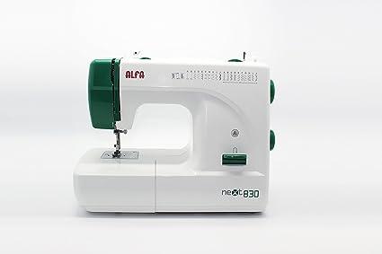 Alfa NEXT830 - Máquina de coser (Máquina de coser semiautomática, Verde, Blanco,