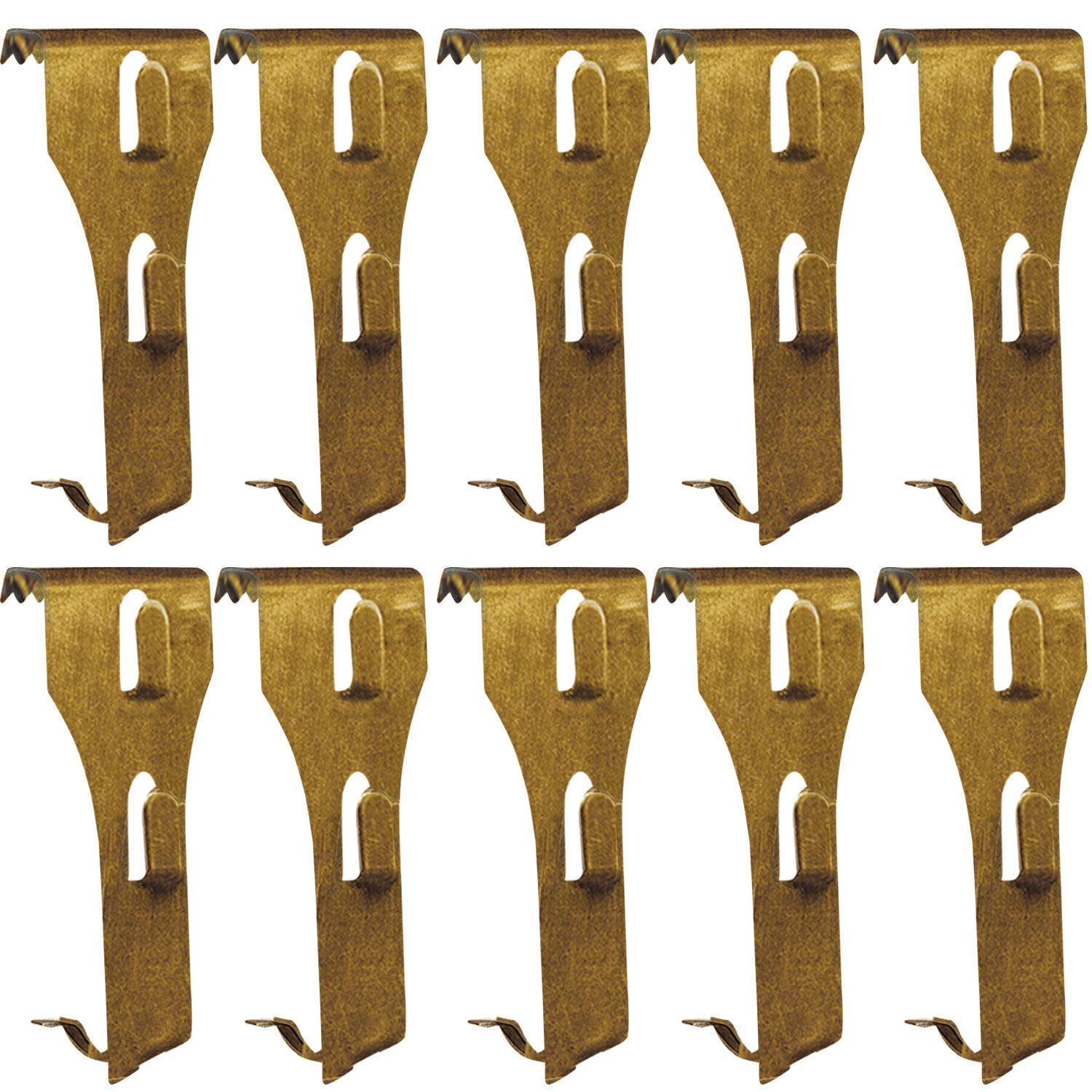 Metal Brick Clips Fastener 10 Pack Bulk Brick Wall Hooks Hanger for Garland Lights Pictures Hanging - Fits Brick 2-1/4 to 2-3/8 inch in Height