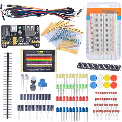 DIYmall Electronic Fans Kit Breadboard Cable Resistor Capacitor ...