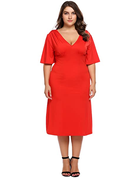 Amazon Involand Plus Size Womens Midi Swing Bridesmaid