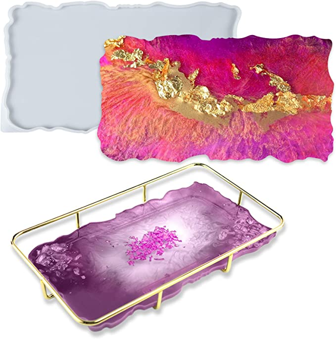Faux GeodeAgate Glitter Resin Phone Grip hot pink  *Perfect for gifts*