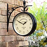 Paddington Station Weather Resistant Double Sided Garden Outdoor Wall Clock 26