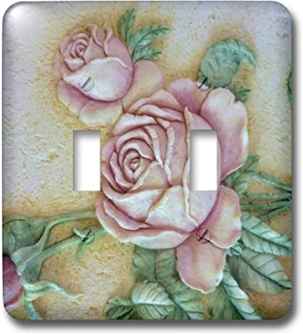 3drose Llc Lsp 14481 2 Ceramic Roses Double Toggle Switch Switch Plates