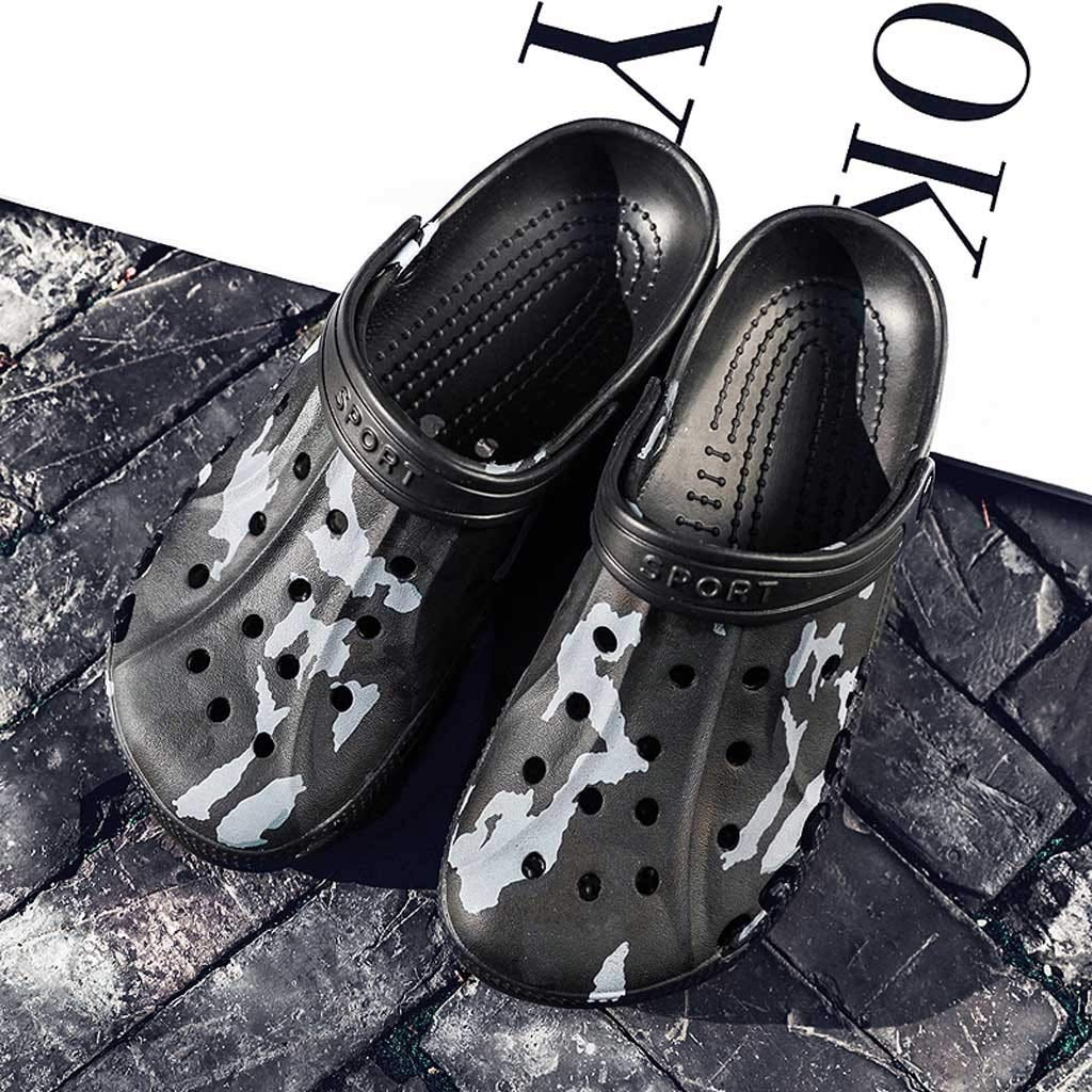 Corriee Mens Shoes Garden Clogs Anti-Slip Beach Shower Sandals Slip on Massage Walking Shoe Male Summer Camouflage Slippers by Corriee (Image #5)